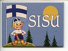 Finnish Boy with Puukko Knife & Sisu Magnet #REM1991