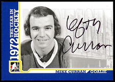 ITG 1972 THE YEAR IN HOCKEY AUTO AUTOGRAPH MIKE CURRAN MINNESOTA NORTH STARS