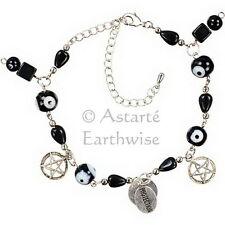 EVIL EYE PENTACLE PROTECTION BRACELET Wicca Witch Reiki Pagan