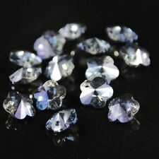 12pcs Exquisite 8mm plum blossom Swarovski Crystal bead A Hyaline blue