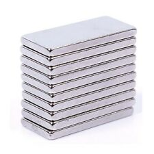 Set Of 5 Pieces of 25mm x 10mm x 2mm Strong Rare Earth Neodymium Magnets N52
