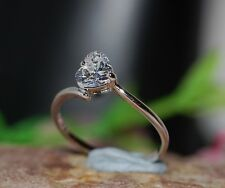 0.8ct heart single DIAM0ND ring size L 6