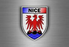 Sticker decal car bike motorcycle souvenir france flag city of nice shield crest