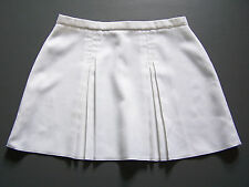 Vintage Tennis Sports Skirt Large W32 in. White Pleated Retro Short Mini ITAX196