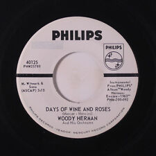 WOODY HERMAN: Days Of Wine And Roses / Jazz Me Blues 45 (dj, label tear) Jazz