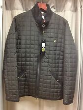 REDUCED ONE TRUE SAXON QUILTED JACKET IN BLACK. FROM £140.00 TO £85.00