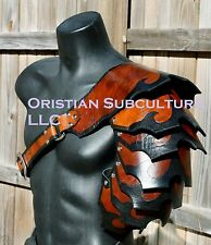 Single Leather Shingled Spaulder Armor articulated cosplay Gladiator SCA LARP