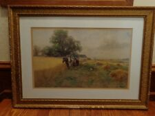 Original Frank F. English Watercolor, Noted Listed American Artist (1854-1922)