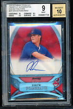 2010 BOWMAN STERLING RED REFRACTOR 1/1 DREW POMERANZ BGS 9 10 AUTO .5 AWAY RARE
