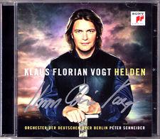 Klaus Florian VOGT Signed HELDEN Wagner Lohengrin Die Walküre Mozart Korngold CD