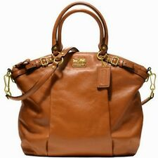 NEW COACH F18641 MADISON ACORN LEATHER LINDSEY PURSE BAG HANDBAG LARGE