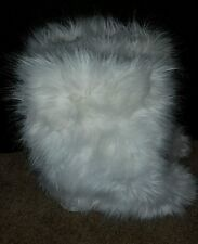 women's mammoth yeti mukluk Eskimo white fur fluffy winter snow boots size 8