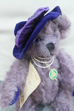 Vintage Collectible Hermann Mohair Bear Queen Mum England 100th Birthday  71/500