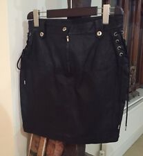 Diesel L Honsu soft Lambs Leather Black Skirt Size  32 UK 10/12 rrp 480 euros