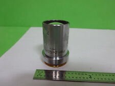 MICROSCOPE PART LEICA REICHERT AUSTRIA POLYVAR OBJECTIVE 2X OPTICS AS IS B#AI-15