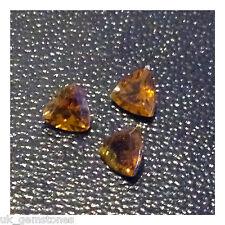 Natural Tourmaline Trilliant, 4x4mm  0.21ct VSI, Nigeria,  Single Stone, 'Video'