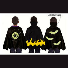 Spooky Stuff Kids Black Bat Witch Vampire Halloween Costume Cape Boys Girls pvc