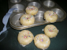 Mini Doughnut Candle Tart Melts Frosted Vanilla Butter Cream