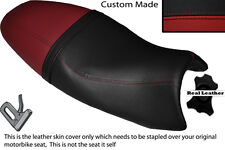 DARK RED & BLACK CUSTOM FITS TRIUMPH SPEED TRIPLE 08-10 1050 LEATHER SEAT COVER