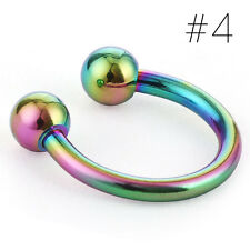 1pc Stainless Steel Horseshoe Bar Lip Nose Septum Ear Ring Stud Body Piercing