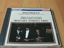 Mozart String Trio - Beethoven : String Trios Complete vol. 1 - CD Denon Japan