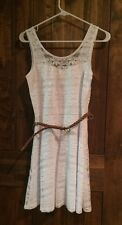 New NWT White Sun Dress Self Esteem Lace & Lined M Size Medium Women's Juniors