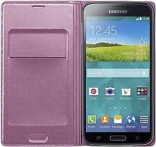 Original Samsung Galaxy S5 Handyhülle Flip Cover Tasche Case Cover Schutz Pink