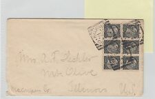 BLOCK of 6x1/2 cent 1894 NICE Canada to USA Halifax Squared Circle Small Queen