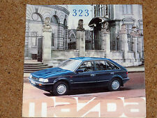 1988 MAZDA 323 Sales Brochure - 1.6i, 1.5GLX Saloon Hatch Estate