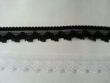 "Wholesale 100 Yards black Scalloped narrow stretch Lace Trim 5/8"" s1 US SHIPPER"