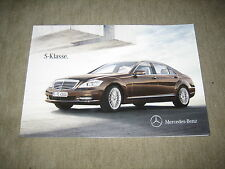 Mercedes clase s w221 folleto brochure de 6/2012, 78 páginas