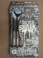 Harrows Silver Shark 24g Steel Tip Darts 54124 w/ FREE Shipping