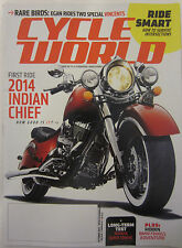 Cycle World Magazine October 2013 First Ride 2014 Indian Chief BMW F800GS