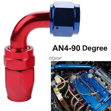 4AN AN4 AN-4 90 Degree Swivel Hose End Fitting Adaptor For Braided Fuel Line