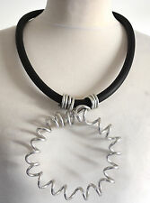 AMAZING GERMAN  LAGENLOOK QUIRKY   metal & rubber necklace