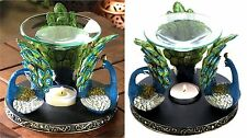 Gorgeous ** PEACOCK PLUME OIL WARMER BURNER CANDLEHOLDER ** NIB