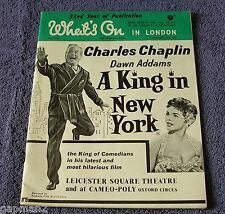 Charles Chaplin Dawn Addams 1957 Whats On In London - The London Week Magazine