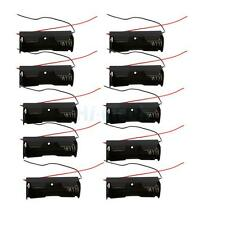 10Pcs New 18650/16340/CR123A 3.6V-4.2V Battery Clip Holder Storgae Box Case US