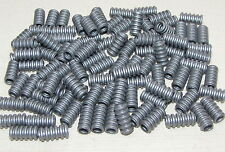 LEGO LOT OF 100 NEW FLAT SILVER HOSE TECHNIC SCREW PIECES CONNECTORS