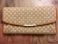NWT COACH MADISON SLIM ENVELOPE WALLET IN NEEDLEPOINT OP ART FABRIC F49611 $198