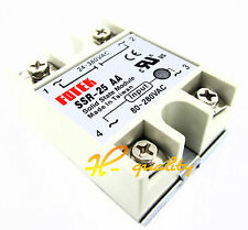24V-380V 25A SSR-25AA Solid State Relay Module 80-250VAC AC-AC