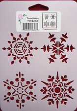 Stencil Snowflakes Snowflake Winter Christmas Snow Holidays StenSource W9313
