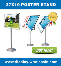 """Poster stand 27""""x19"""" + vinyl prints (2 side)"""