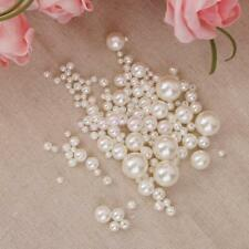 150Pcs Resin Pearls Round Beads for Jewelry Findings Crafts Wedding Decor