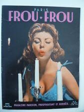 Magazine PARIS FROU*FROU 1955 - Cv.  et 4ème Cv. Cynthia BROOKS