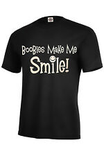 BooBies Make Me Smile! T-SHIRT BEST Assorted Colors Funny Must Adult Sizes S-5XL