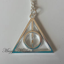Silver Deathly hallows pendant necklace. witch/wizard/magical Horcux/Dumbledore