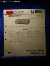 Sony Service Manual TA D507 Amplifier  (#1558)