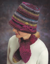 Crochet Pattern ~ LADIES MADISON AVENUE HAT & SCARF SET ~ Instructions