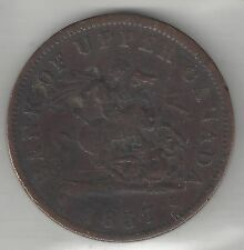 BANK OF UPPER CANADA, 1857, PENNY TOKEN, COPPER, KM#Tn3, VERY FINE+